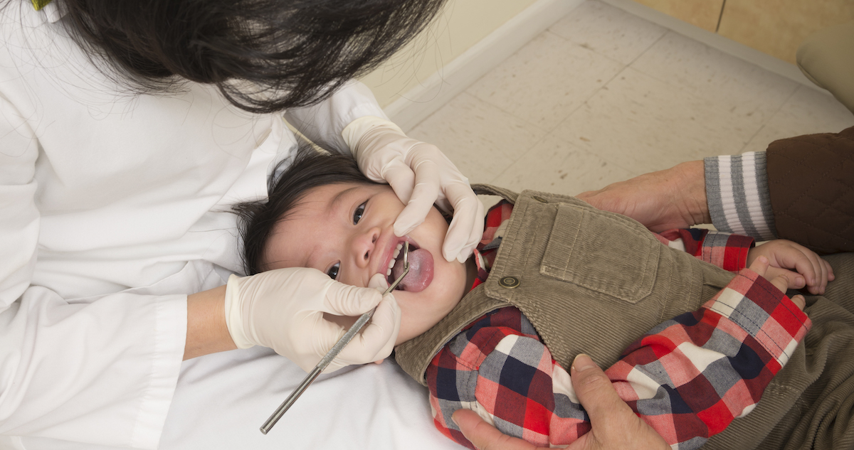 Baby At Dentist Appointment